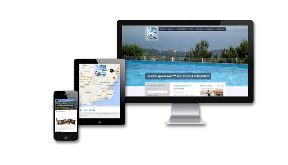 Site internet location de vacances avec réservations