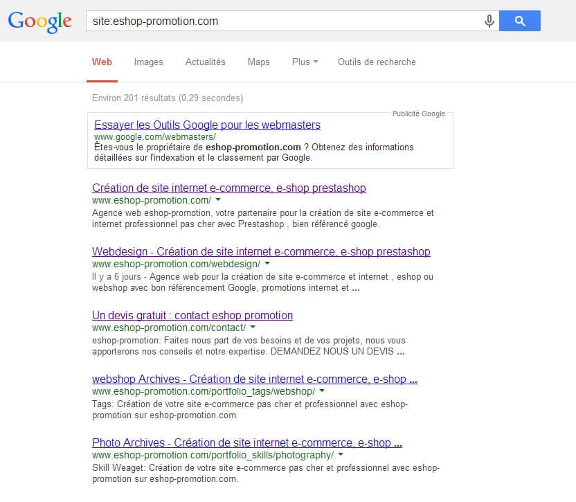 recherche Google eshop-promotion
