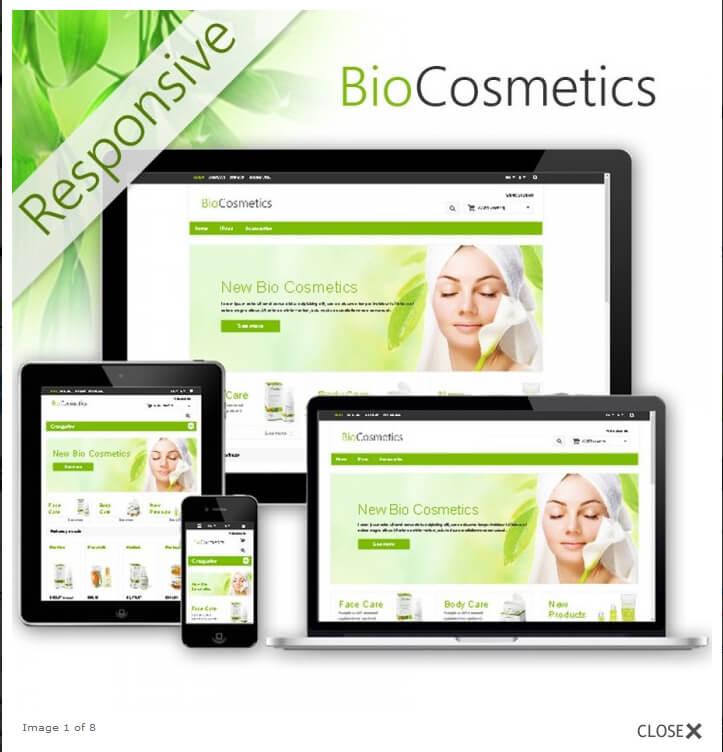 cosmetic bio thème e-commerce
