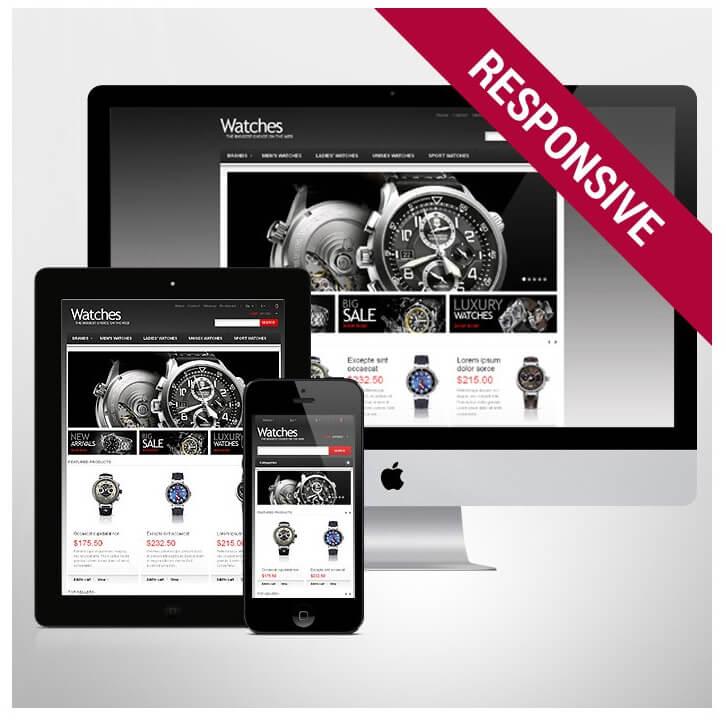 Theme e-commerce Responsive Web Design