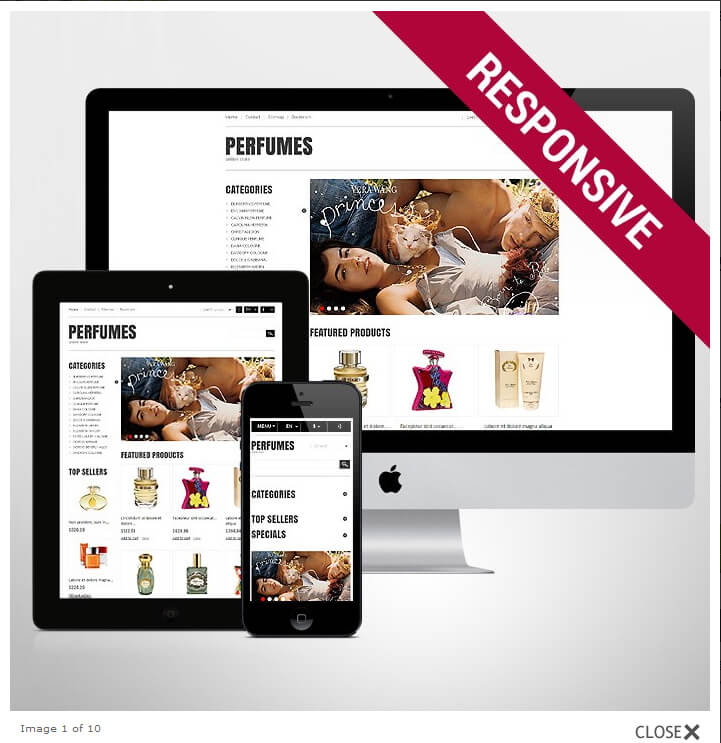 Theme e-commerce Parfums Cosmetics Beauté