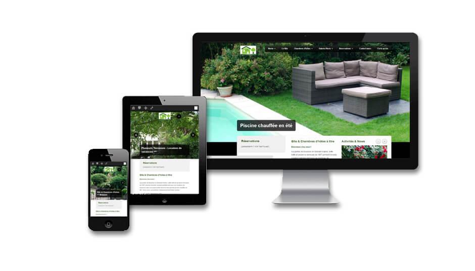Cr ation de site internet g te et chambres d 39 h tes b b for Site web pour hotel