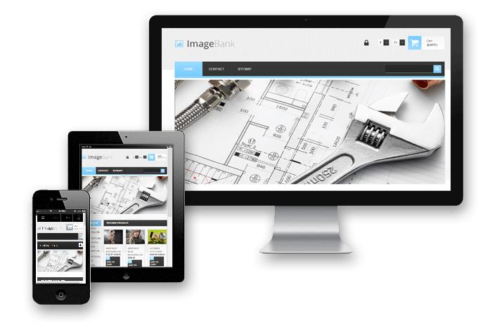 Création site internet architecte et photographe banque images en ligne