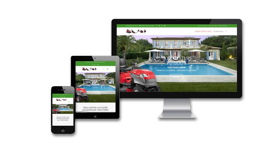 Site internet vitrine: Motoculture du Golfe de Saint-tropez