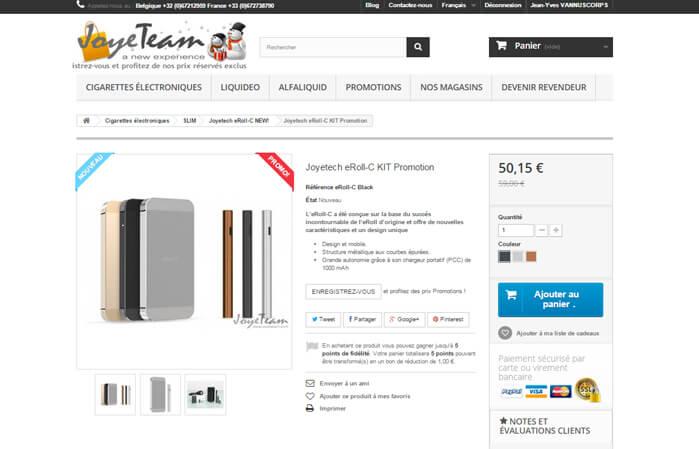 Joyeteam e-cigarettes electronique Joyetech