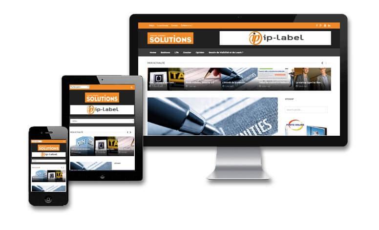 Solutions Magazine: Site internet News et Actualités