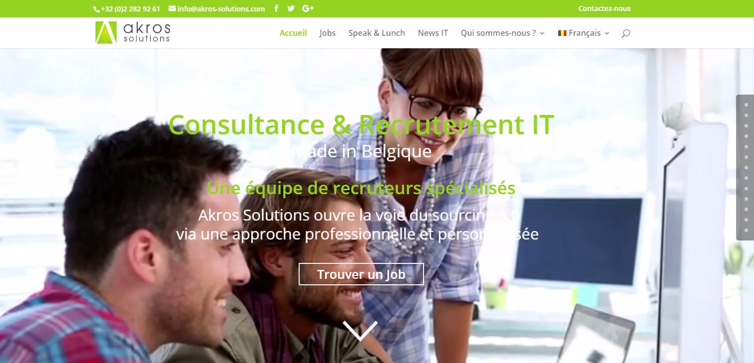 Nouveau Site de recrutement IT à Bruxelles en Belgique : Akros solutions