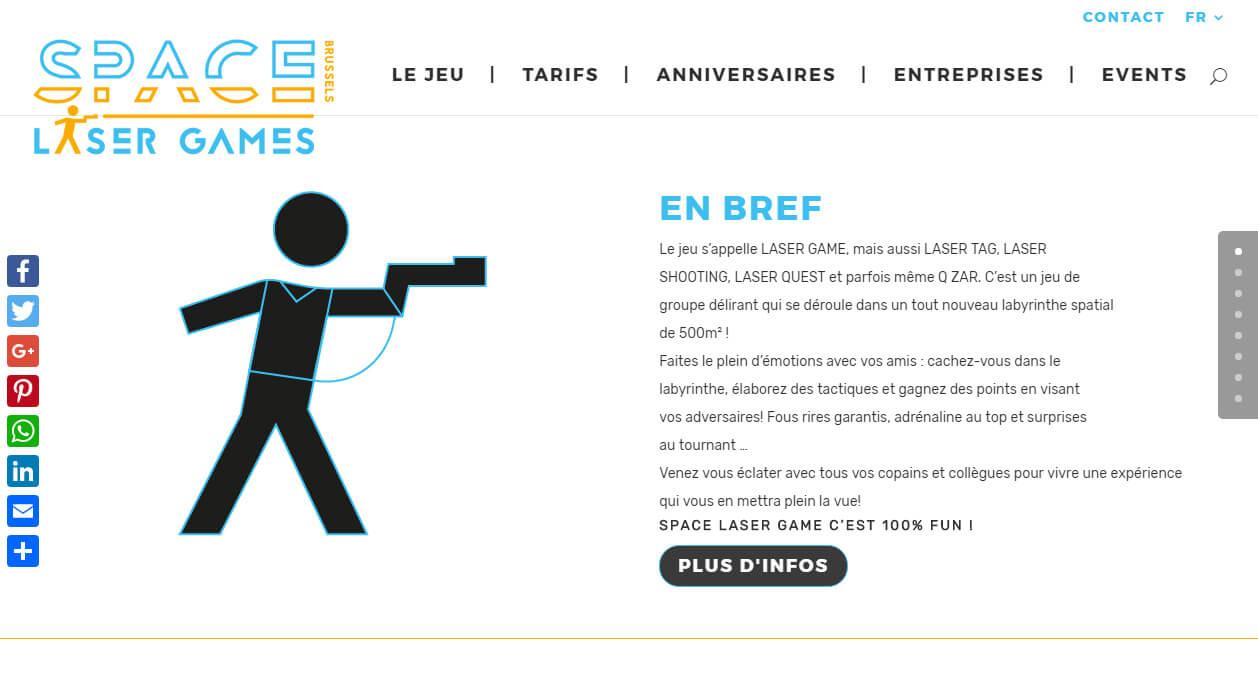 space laser game bruxelles agence de cr ation site internet e commerce. Black Bedroom Furniture Sets. Home Design Ideas