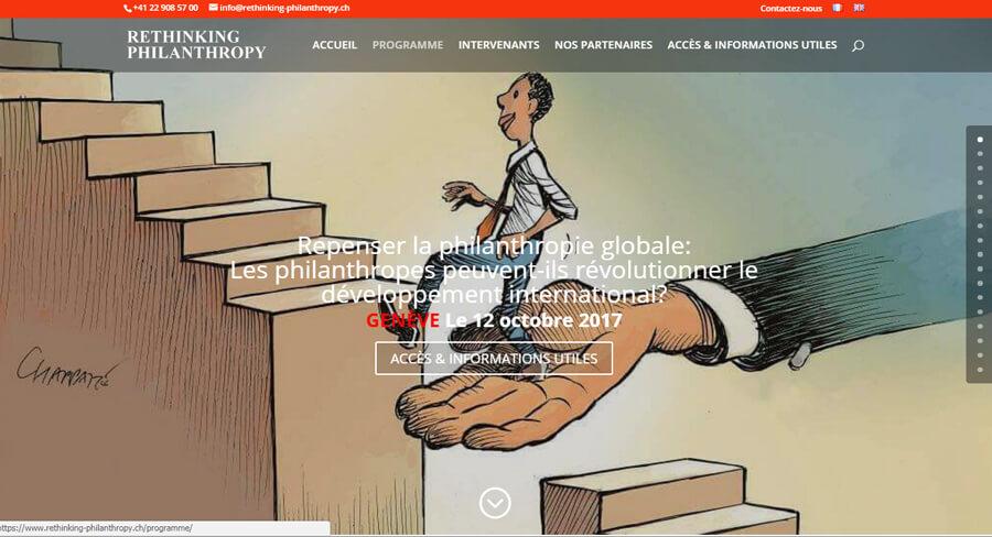 Rethinking Philanthropy Journal Le Temps Genève