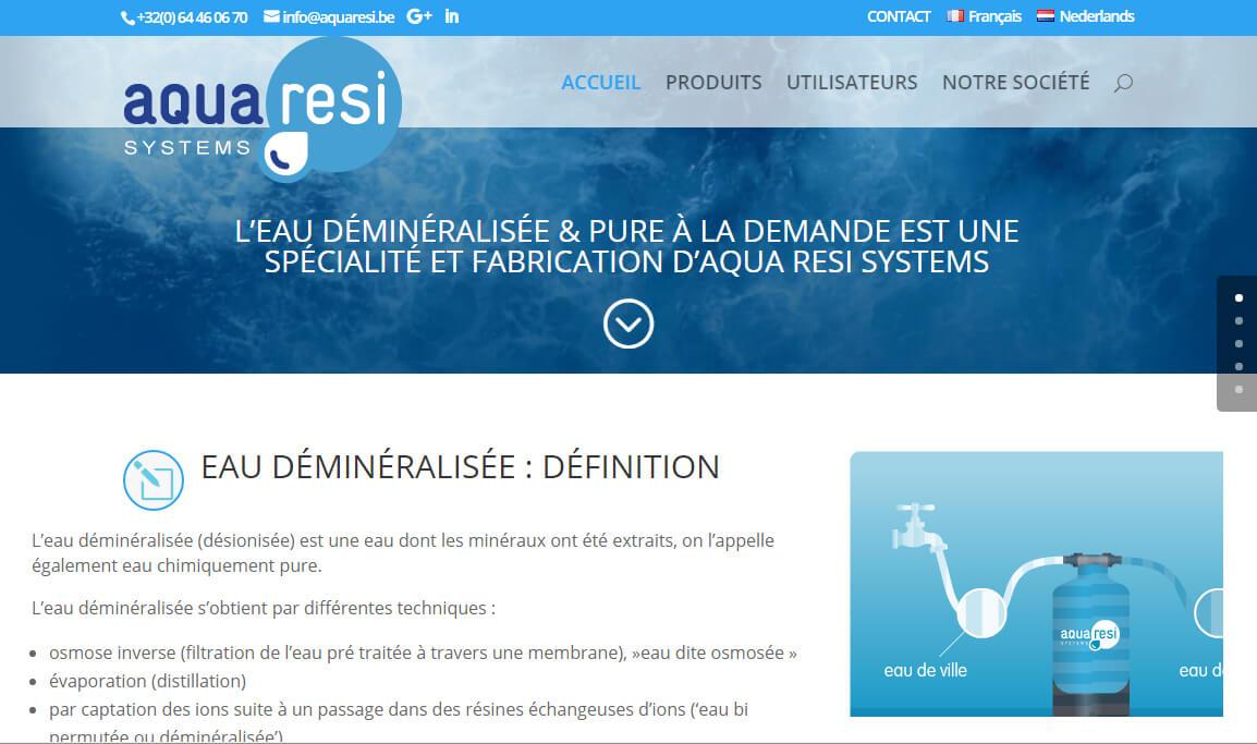 Aquaresi.be   Eau déminéralisée industrielle