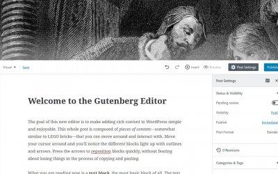 Nouveau WordPress 5.0 avec un nouvel éditeur nommé Gutenberg