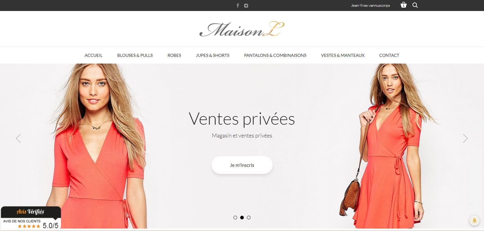 Template e-commerce Prestashop sur mesure